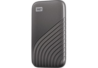 Disco duro externo 500 GB - WD My Passport SSD, Portátil, Lectura 1050 MB/s, USB 3.2, Para Windows y Mac, Gris