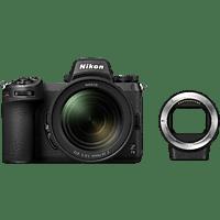 NIKON Z7 II Kit + FTZ Adapter Systemkamera mit Objektiv 24-70 mm, 8 cm Display Touchscreen, WLAN