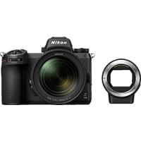 NIKON Z 6II Kit + FTZ Adapter Systemkamera mit Objektiv 24-70 mm, 8 cm Display Touchscreen, WLAN