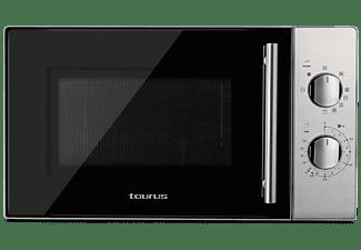Microondas - Taurus Luxus Grill, 1000W, 20 L, 5 potencias, 3 posiciones, Inox