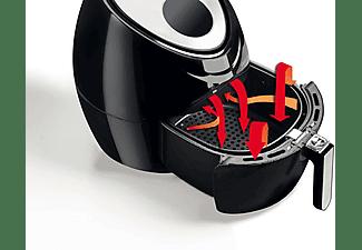 Freidora sin aceite - Ariete Airy Fryer Digital 4618, 5.5 l, 1800 W, 7 programas, Display LCD, Negro