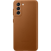 SAMSUNG Leather Cover für Galaxy S21, Braun