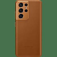 SAMSUNG Leather Cover für Galaxy S21 Ultra, Braun