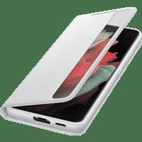 SAMSUNG Clear View Cover für Galaxy S21 Ultra, Weiß