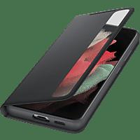 SAMSUNG Clear View Cover für Galaxy S21 Ultra, Schwarz