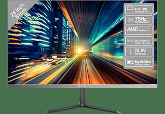 PEAQ Monitor PMO Slim S241, 24 Zoll, FHD, 75Hz, 5ms, 250cd, IPS, Schwarz