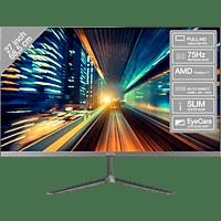 PEAQ Monitor PMO Slim S271, 27 Zoll, FHD, 75Hz, 5ms, 250cd, IPS, Schwarz