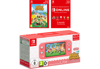 NINTENDO Switch Lite (Korall) + Animal Crossing: New Horizons + Nintendo Switch Online (3 Mån)