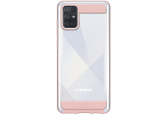 WHITE DIAMONDS Cover Innocence Clear für Samsung Galaxy A72, Rose Gold