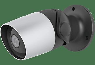 HAMA Überwachungskamera, WLAN, für außen, ohne Hub, Nachtsicht, 1080p, Schwarz