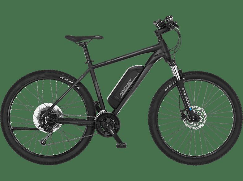 FISCHER EM 2127 Mountainbike (Laufradgröße: 27,5 Zoll, Rahmenhöhe: 48 cm, Unisex-Rad, 422 Wh, Schwarz matt)