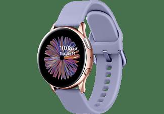 SAMSUNG GALAXY WATCH ACTIVE2 ALU 40MM AG BT Smartwatch Aluminium Fluorkautschuk, S/M, Rose/Gold