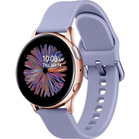 SAMSUNG GALAXY WATCH ACTIVE2 ALU 40MM AG BT Smartwatch Aluminium Fluorkautschuk, S/M, Rose/Gold