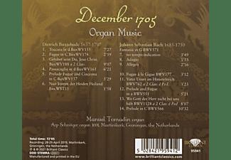 Manuel Tomadin - DECEMBER 1705: BUXTEHUDE And J.S. BACH ORGAN MUSIC  - (CD)