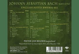 Pieter-jan Belder - J.S.Bach:English Suites BWV 806-811  - (CD)
