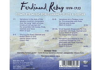VARIOUS - Rebay:Complete Music For Clarinet,Flute And Guitar  - (CD)