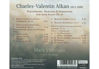 Mark Viner - ALKAN: PARAPHRASES, MARCHES And SYMPHONIE FOR SOLO P  - (CD)