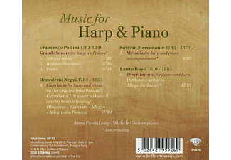 Pasetti,Anna/Gioisa,Michele - Music For Harp And Piano  - (CD)