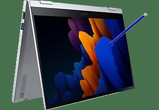 SAMSUNG NP930QCA-KA2DE I7-1165G7 GALAXY BOOK FLEX2 5G, Convertible mit 13,3 Zoll Display, Core™ i7 Prozessor, 16 GB RAM, 512 GB SSD, Intel® Iris® Xe, Royal Silver