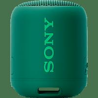 SONY SRS-XB12 Bluetooth Lautsprecher, Grün, Wasserfest