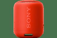 SONY SRS-XB12 Bluetooth Lautsprecher, Rot, Wasserfest