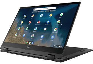 ASUS ChromeBook CM5500FDA-E60055, Notebook mit 15,6 Zoll Display Touchscreen, 8 GB RAM, 128 GB SSD, AMD Radeon™ Graphics, Gun Grey