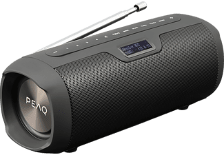 PEAQ PPA 450 DAB+ Bluetooth Lautsprecher, Schwarz