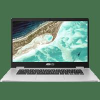 ASUS ChromeBook C523NA-EJ0123, Chromebook mit 15,6 Zoll Display, Intel® Celeron® Prozessor, 4 GB RAM, 64 GB eMMC, Intel® HD Graphics 500, Silver