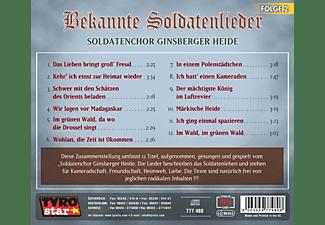 Soldatenchor Ginsberger Heide - Bekannte Soldatenlieder 2  - (CD)