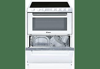 Cocina - Candy Trío 9503/1 X/U, Cocina 3 en 1: Vitrocerámica 4 zonas + Lavavajillas + Horno, 41 l, Blanco