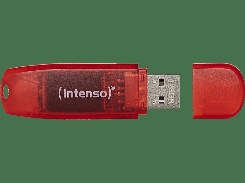 INTENSO Drive USB-Stick, 128 GB, 28 MB s, Rot