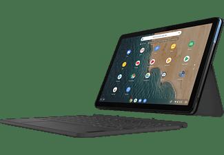 LENOVO IdeaPad Duet inkl. Pen, Plus Chromebook mit 10,1 Zoll Display Touchscreen, MediaTek M-Series Prozessor, 4 GB RAM, 64 GB eMCP, ARM Mali G72 MP3 GPU, Eisblau/Eisgrau