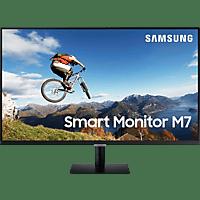 SAMSUNG Smart Monitor M7, 32 Zoll UHD, 60Hz, VA, HDR10, WLAN & Bluetooth, Schwarz (LS32AM700UUXEN)