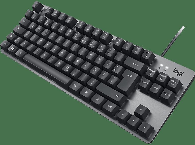 LOGITECH K835 TKL kabelgebundene Aluminiumtastatur, TTC Red, Tastatur, Mechanisch