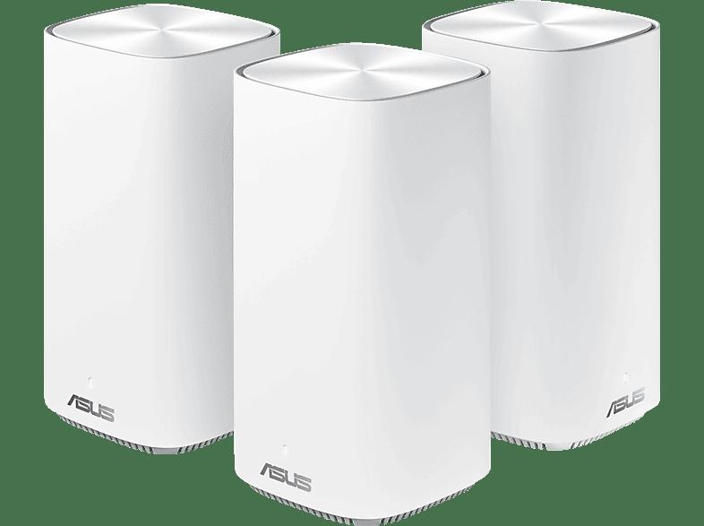 ASUS ZenWiFi AC Mini CD6 AC1500 3er Set Weiss WiFi-5 Mesh System
