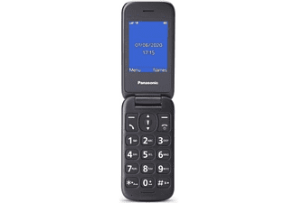 """Móvil - Panasonic KX-TU400, 2.4"""", Cámara, Botón SOS, Resistente a Caidas, Compatible con Audifonos, Rojo"""