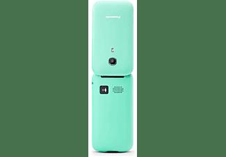"Móvil - Panasonic KX-TU400, 2.4"", Cámara, Botón SOS, Resistente a Caidas, Compatible con Audifonos, Turquesa"