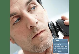 Afeitadora eléctrica - Philips S6640/44, Para hombre, Reduce la irritación de la piel, Uso en seco y húmedo
