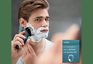 Afeitadora eléctrica - Philips S5550/06, Cuchillas MultiPrecision, Uso en seco y húmedo