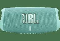 JBL Charge 5 Bluetooth Lautsprecher, Türkis, Wasserfest