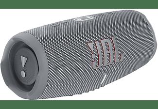 JBL Charge 5 Bluetooth Lautsprecher, Grau, Wasserfest