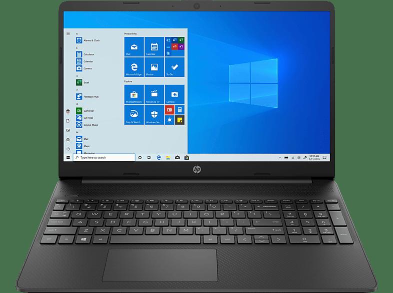 HP 15s-eq1355ng, Notebook mit 15,6 Zoll Display, AMD Ryzen 5 Prozessor, 8 GB RAM, 512 SSD, Radeon -Grafikkarte, Schwarz