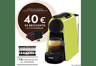 Cafetera de cápsulas - Nespresso® De Longhi EN85L Essenza Mini, 19 bares, 0.6 l, Verde Lima