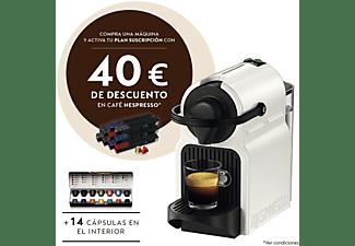 Cafetera de cápsulas - Nespresso® Krups INISSIA XN1001, Presión de 19 bares, Potencia 1260 W, Blanco
