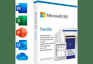 Software - Microsoft Office 365 Familia 1 año (Formato Físico)