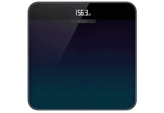 Báscula inteligente - Xiaomi Amazfit Smart Scale, Hasta 180 kg, LCD, Wi-Fi, Bluetooth, Vidrio, Azul