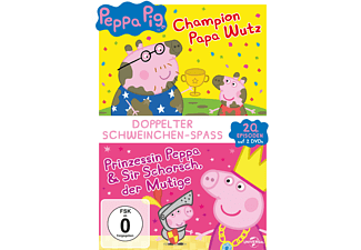 Peppa Pig - Prinzessin Peppa & Sir Schorsch der Mutige & Peppa Pig - Champion Papa Wutz und andere Geschichten DVD
