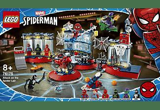 LEGO 76175 Angriff auf Spider-Mans Versteck Bausatz, Mehrfarbig