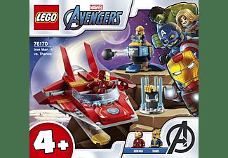 LEGO 76170 Iron Man gegen Thanos Bausatz, Mehrfarbig