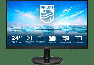 PHILIPS 241V8LA 23,8 Zoll Full-HD Monitor (4 ms Reaktionszeit, 75 Hz)